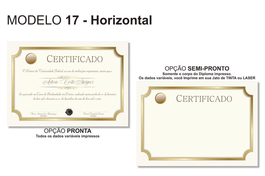 Diploma Modelo 17 Horizontal Canudos Porta Diploma